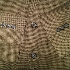 Brown Wool Houndstooth Canali Sports Jacket, 44L